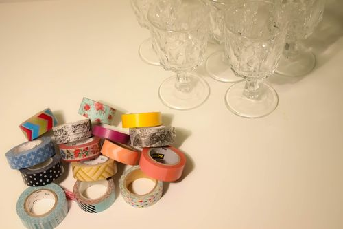Washi Tape Wine Charms l Our Sweet Somewhere