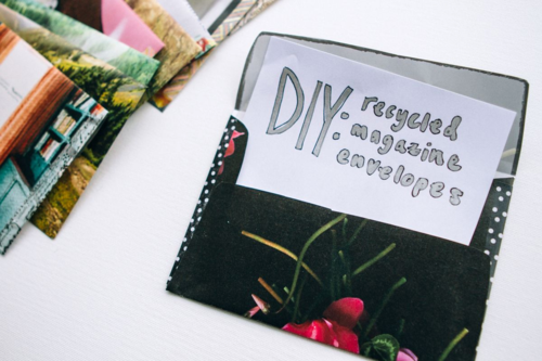 Recycled Magazine Envelopes | Our Sweet Somewhere