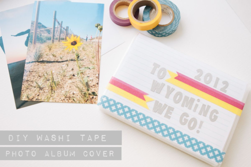 Washi Tape Photo Album Cover | Our Sweet Somewhere
